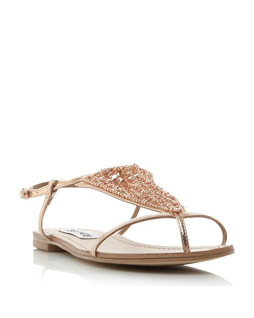 Steve Madden - Multicolor Chasity Sm Diamante Flat Sandals - Lyst