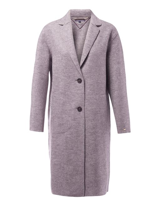 Tommy Hilfiger - Gray Beth Boiled Wool Coat - Lyst