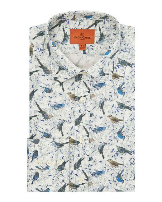 Simon Carter | Blue Men's Exclusive Liberty Birdsong Print Shirt for Men | Lyst