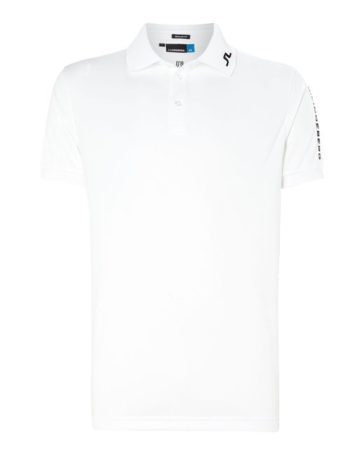 J.Lindeberg | White Tour Tech Tx Polo Shirt for Men | Lyst