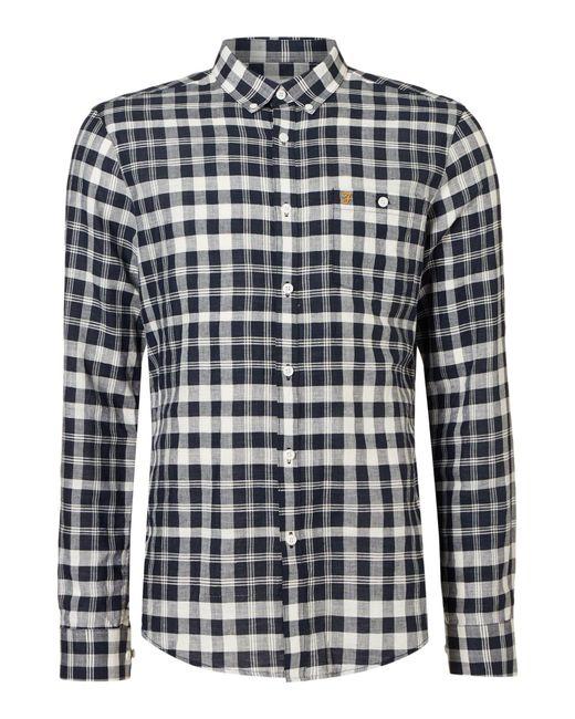Farah | Blue Men's Anderton Slim Check Shirt for Men | Lyst