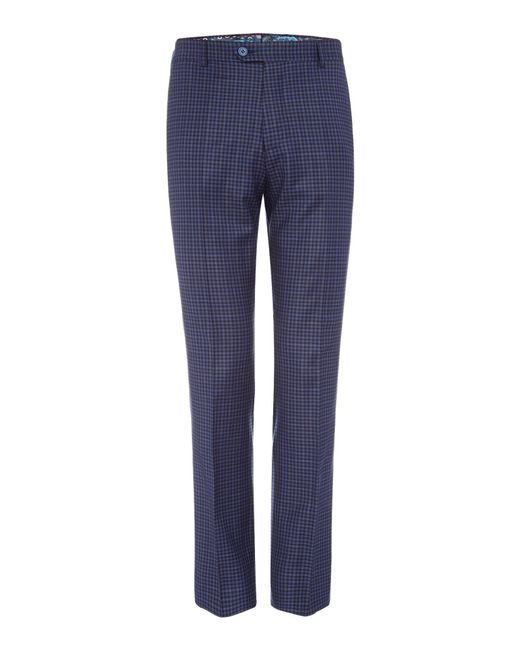 Ted Baker | Hopski Blue Gingham Suit Trousers for Men | Lyst