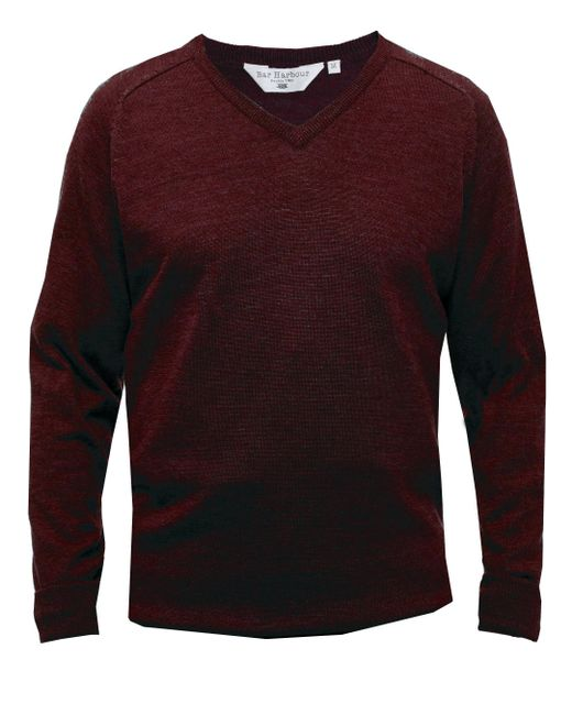 Double Two - Red Men's King Size V Neck Sweater for Men - Lyst