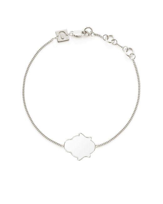 OAK | Metallic Buddha Bracelet White Enamel | Lyst