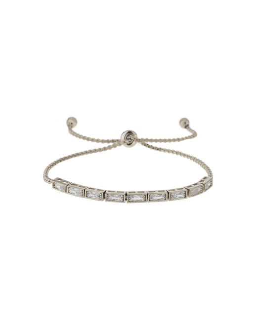 Mikey | White Rectangle Crystal Self Tie Up Bracelet | Lyst