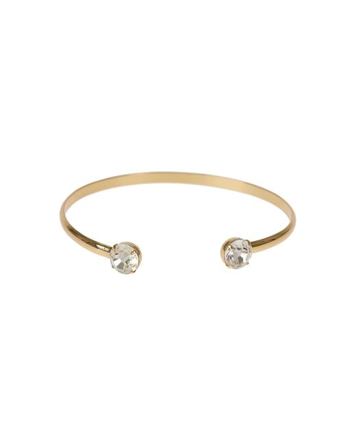 Mikey - Metallic Crystal Cap End Wire Cuff Bracelet - Lyst