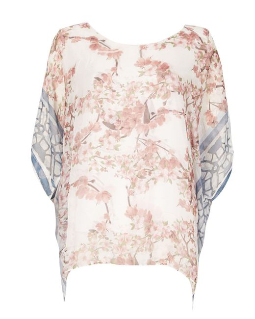 Izabel London | Multicolor Blossom Print Top | Lyst