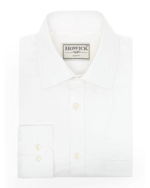 Howick | White Charter Slim Fit Twill Shirt for Men | Lyst