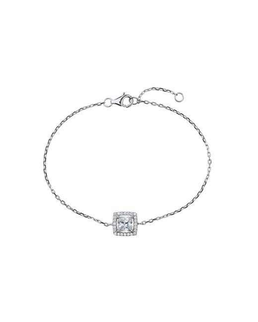 Mikey - Metallic Sterling Silver 925 Square Centre Tennis - Lyst