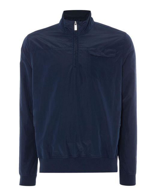 Perry Ellis - Blue Zip Through Neck Light Weight Jacket for Men - Lyst