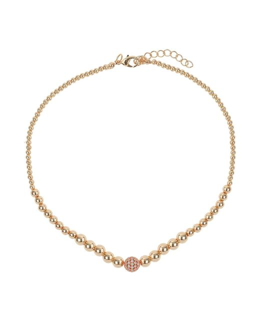 Mikey | Metallic Fine Cubic Ball Multi Metal Necklace | Lyst