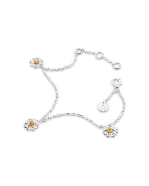 Daisy London - Metallic Three English Daisy Drop Chain Bracelet - Lyst