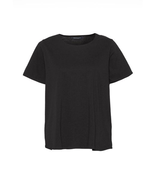 French Connection | Black Dabo Bonded Edge T-shirt | Lyst