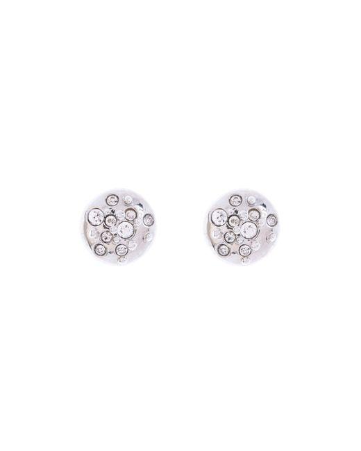 Karen Millen - Metallic Silver & Crystal Sprinkle Stud Earrings - Lyst