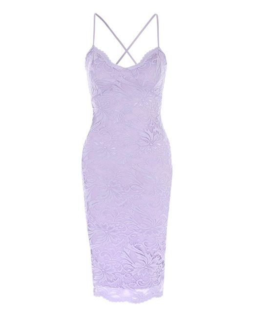 Jane Norman - Purple Lace Strappy Bodycon Dress - Lyst