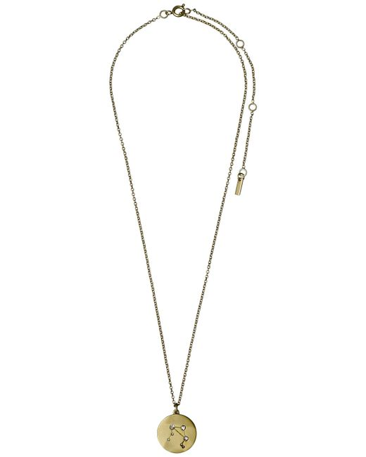 Pilgrim - Metallic Libra Crystal Gold Plated Necklace - Lyst