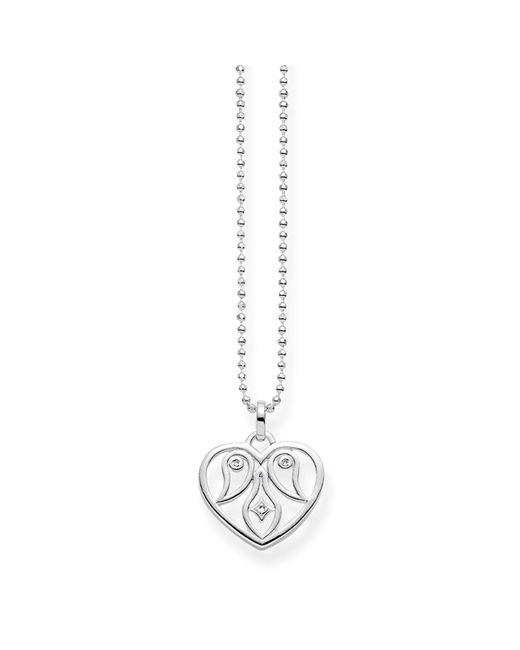 Thomas Sabo | Metallic Diamond Cut-out Heart Necklace | Lyst