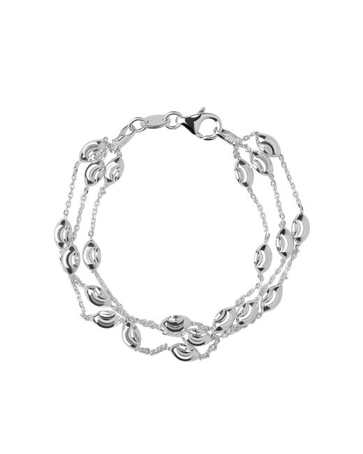 Links of London - Metallic Beaded Chain 3 Row Bracelet - Lyst