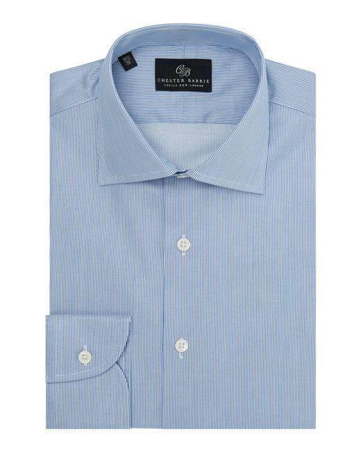 Chester Barrie | Blue Men's Twill Stripe Shirt for Men | Lyst