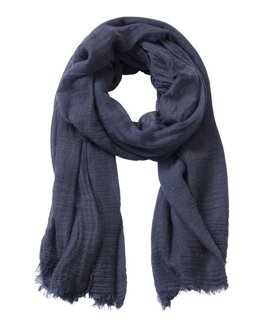 Betty Barclay - Blue Crinkle Textured Scarf - Lyst
