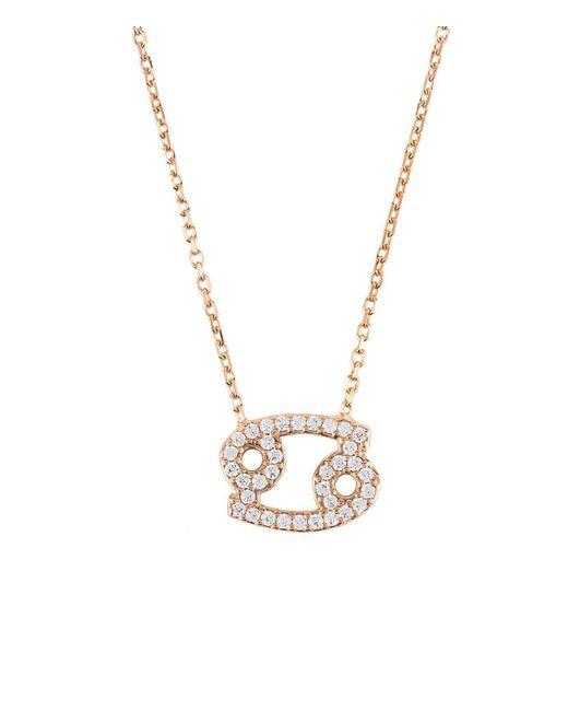 Latelita London - Metallic Zodiac Necklace Rose Gold Cancer - Lyst