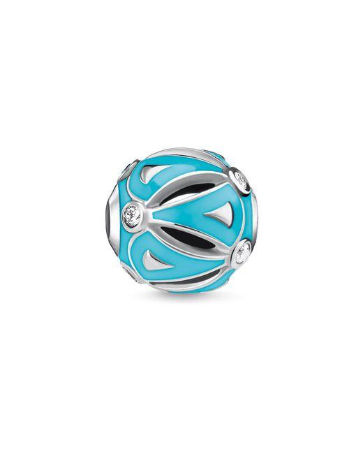 Thomas Sabo | Blue Ethno Turquoise Karma Bead | Lyst