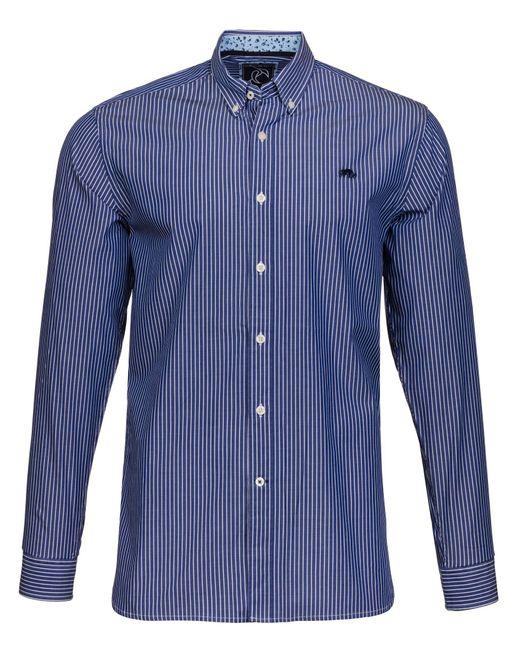 Raging Bull - Blue Big And Tall Bengal Stripe Shirt for Men - Lyst