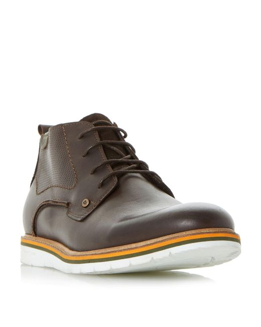 Dune - Brown Chandler Col Pop Sole Wedge Chukka Boots for Men - Lyst