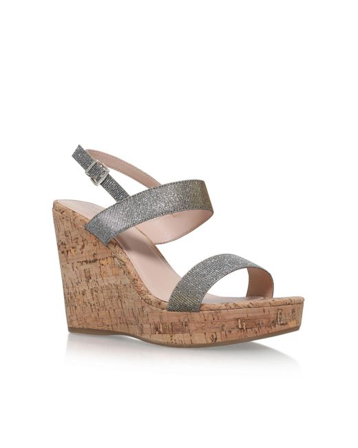 Carvela Kurt Geiger | Natural Kay High Wedge Heel Sandals | Lyst