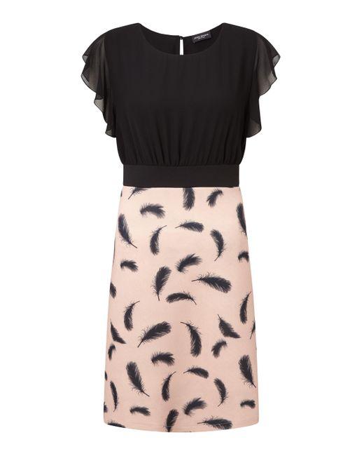 James Lakeland - Black Feather Print Dress - Lyst