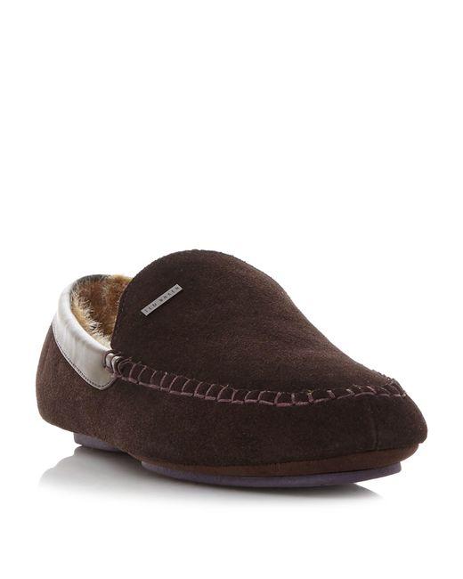 Ted Baker - Brown Moriss Mocassin Slippers for Men - Lyst
