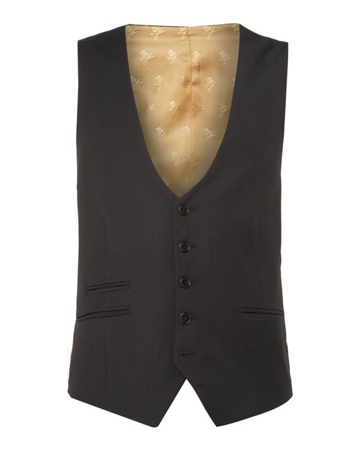 Label Lab - Black Rutherford Plain Skinny Waistcoat for Men - Lyst