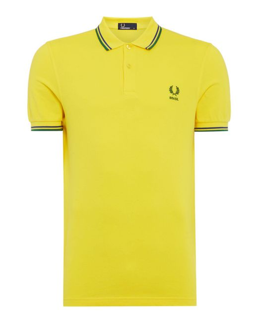 Fred Perry - Yellow Men's Twin Tipped Country Polo Shirt for Men - Lyst