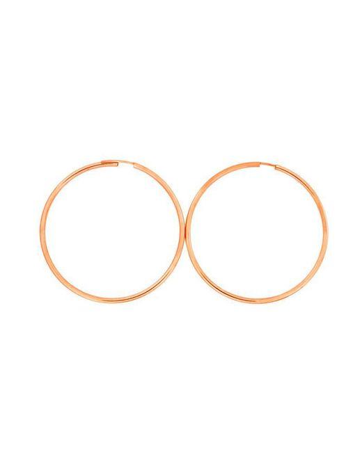 Azendi - Metallic Rose Gold Plated Silver Hoops 5cm - Lyst