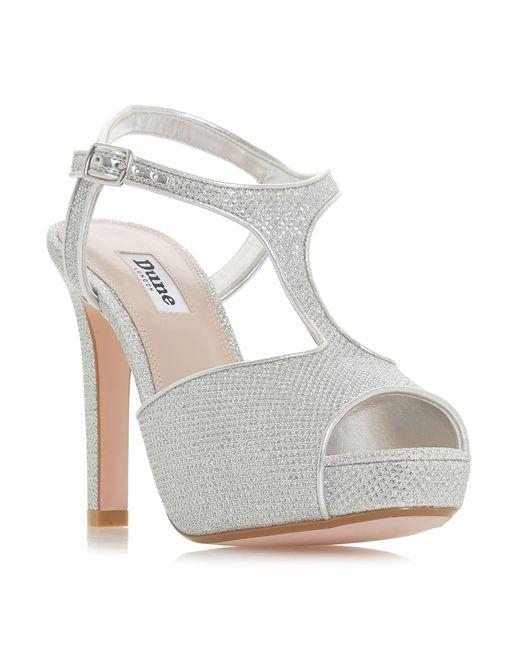 Silver 'Marleigh' high stiletto heel t-bar sandals under $60 for sale hot sale cheap price very cheap z1Cmkiyo