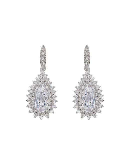 Mikey | Multicolor Oval Stone Marquise Drop Earring | Lyst