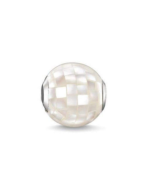 Thomas Sabo - Karma Beads White Mother Of Pearl Bead - Lyst