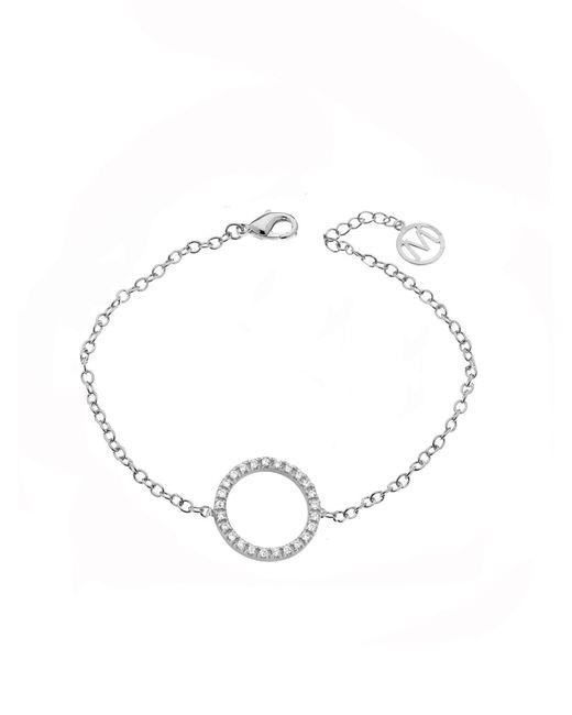 Melissa Odabash | Metallic Rhodium Crystal Infinity Circle Bracelet | Lyst