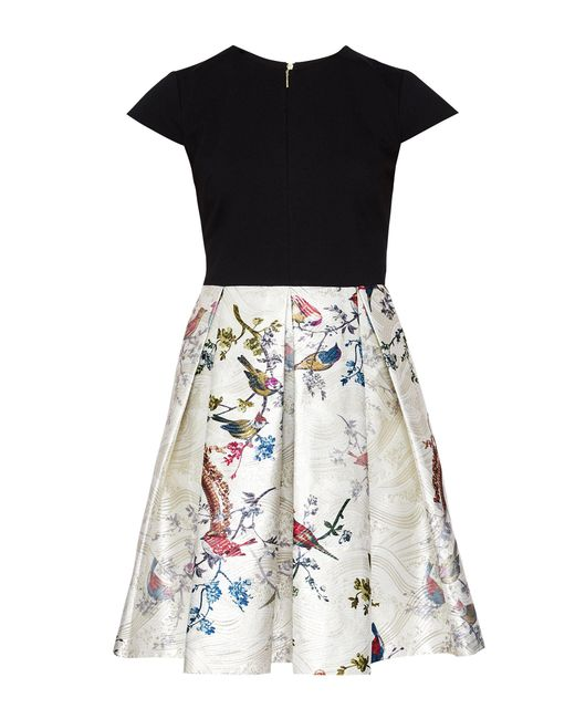 Ted Baker - Black Briege Opulent Contrast Skirt Dress - Lyst