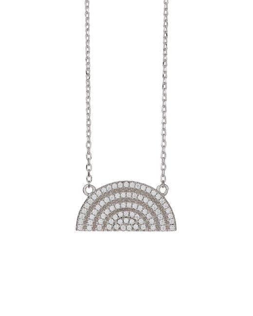Mikey - Metallic Sterling Silver 925 H Moondesign Pendant - Lyst
