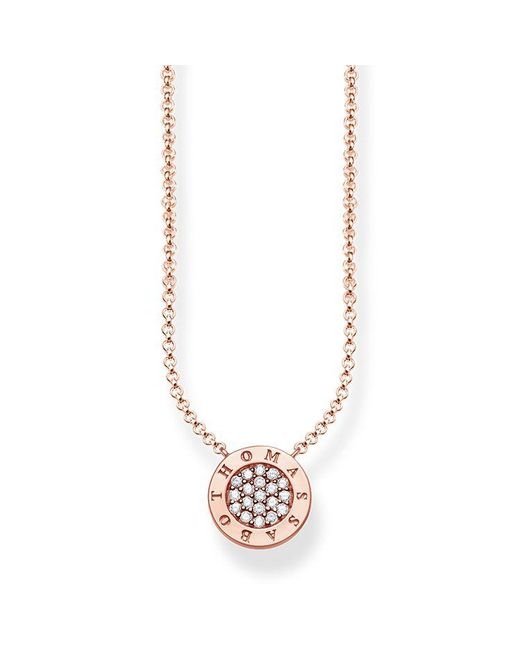 Thomas Sabo - Metallic Glam & Soul Classic Pavé Necklace - Lyst