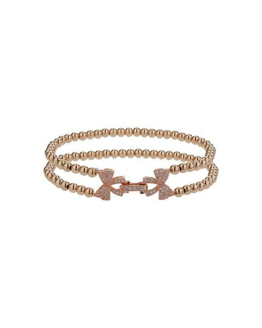 Mikey | Metallic Twin Butterfly Inter Lock Bracelet | Lyst