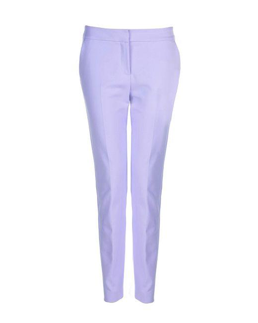 Stefanel | Purple Straight Stretch Cotton Trouser | Lyst