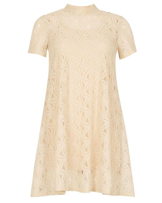 Izabel London | White Lace Overlay Dress | Lyst