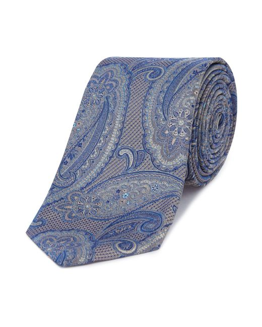 Ted Baker - Blue Falcao Paisley Tie for Men - Lyst