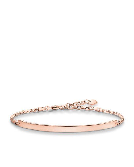 Thomas Sabo | Pink Love Bridge Rose Gold Plated Bracelet | Lyst