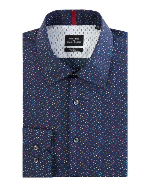Simon Carter   Blue Men's Triangle Print Shirt for Men   Lyst