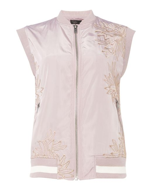 Label Lab   Pink Embroidered Bomber   Lyst