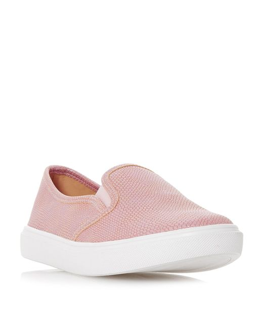 Dune - Pink Elsaa Round Toe Slip On Trainer - Lyst