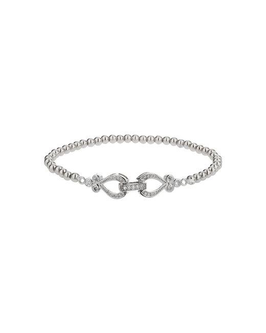 Mikey   Metallic Twin Heart Interlock Bracelet   Lyst